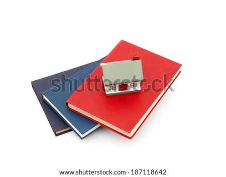 little house and books - stock photo