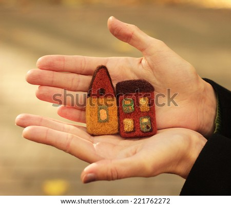 little houses in hands