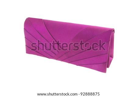 little ladies handbag on a white background - stock photo