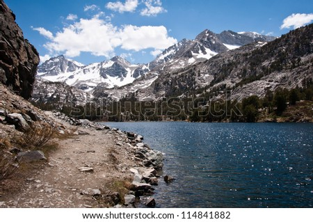 Little lakes trail at Mammoth Lakes - stock photo