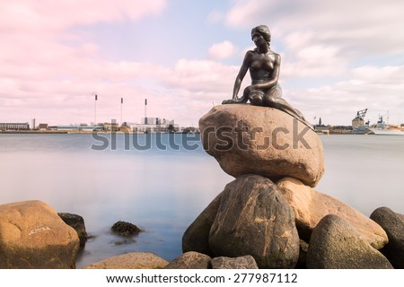Little Mermaid, Copenhagen, Denmark - stock photo
