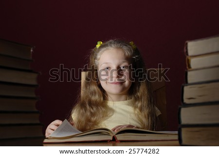 Little Nastia & her books