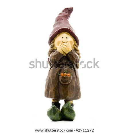 Little Old Lady Garden Gnome for Prosperity - stock photo