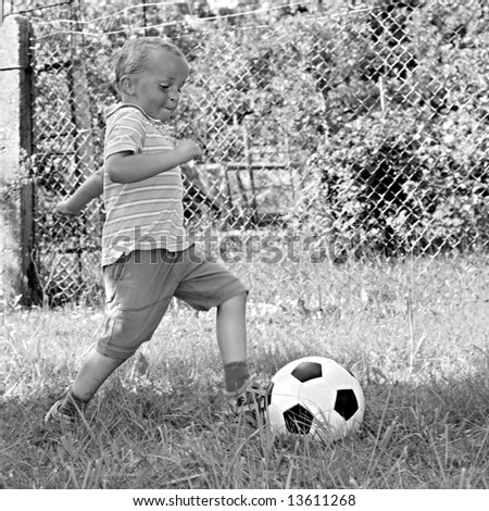 Little player - stock photo
