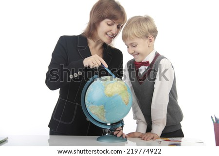 little pupil and teacher