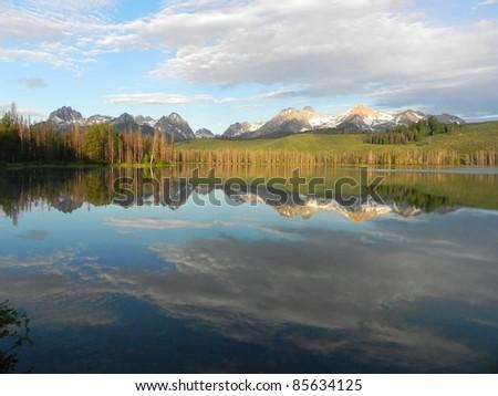 Little Redfish Lake in Idaho - stock photo