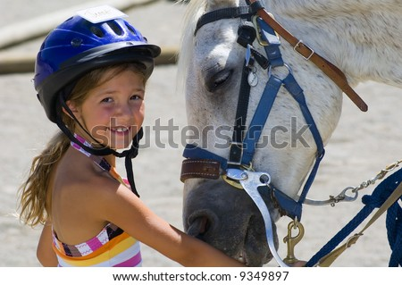 Little rider and horse