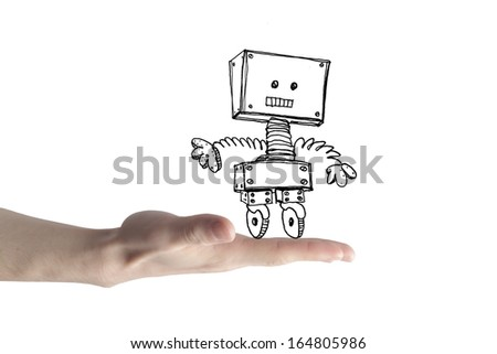 Little Robot - stock photo