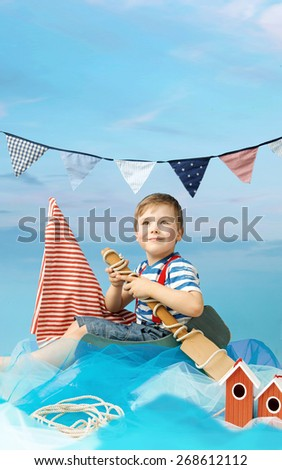Little sailor - stock photo