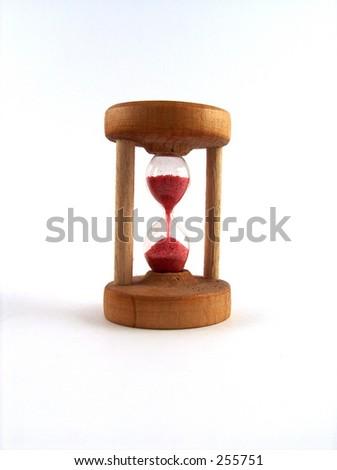 little sand glass - stock photo