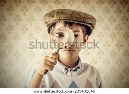 Little Sherlock Holmes  - stock photo