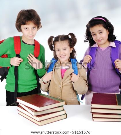 little students - stock photo
