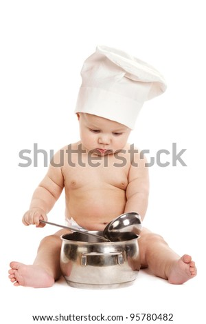 little sweet cook isolated on white background