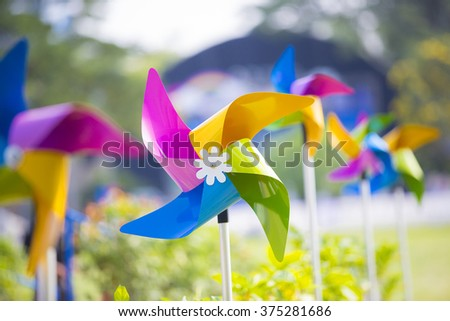 Little Wind turbine - stock photo