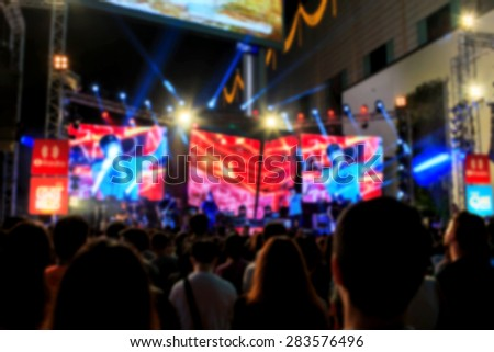 Live concert blurred for background - stock photo