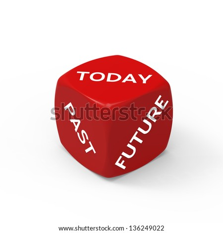 Live For Today - How to Make the Right Choice. - stock photo