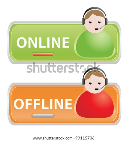 Live help signs - stock photo