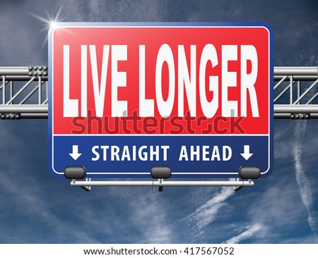 live longer, living a long healthy live using the fountain of youth and being eternal young - stock photo