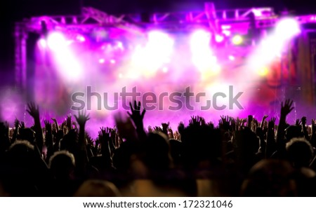 Live music background. Show and public - stock photo