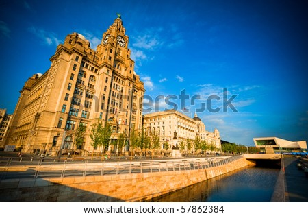 Liver building in sunlight