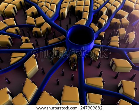 liver surface, liver cells, liver disease, liver structure, structure of the liver - stock photo