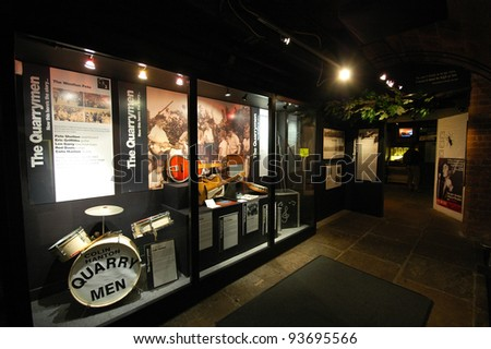 LIVERPOOL, ENGLAND - JUNE 6: The Beatles Story on June 6 2009 in liverpool, England. A tourist attraction dedicated to the leading 1960s musician group The Beatles - stock photo