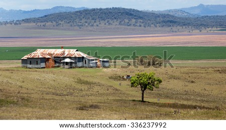 liverpool plains prime farmland near Quirindi, NSW, Australia