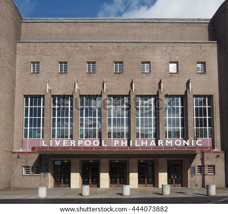 LIVERPOOL, UK - CIRCA JUNE 2016: Liverpool Philharmonic Hall
