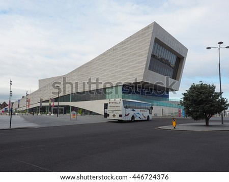 LIVERPOOL, UK - CIRCA JUNE 2016: The Museum of Liverpool designed by Danish architects 3XN at Pier Head part of Liverpool Maritime Mercantile City