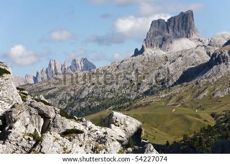 Livinallongo Del Col Di Lana - Dolomites - stock photo