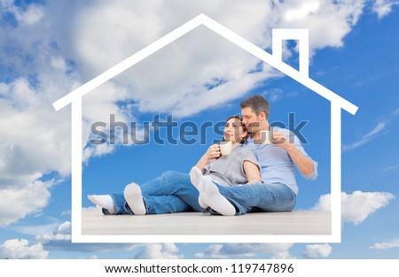 living - stock photo