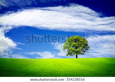 Living in a green nature - stock photo