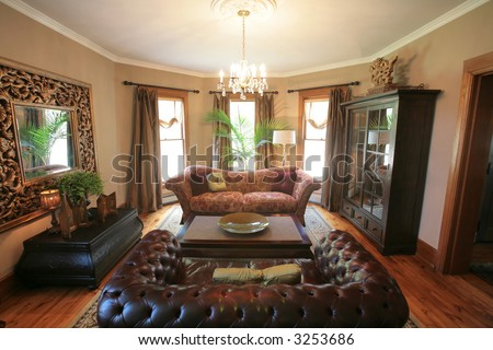 living room - stock photo