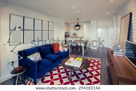 living room and kitchen corner in flat