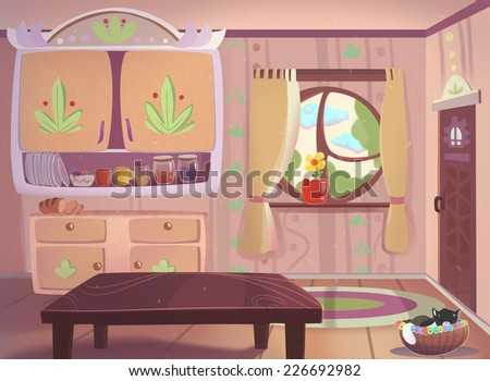 Stock images royalty free images vectors shutterstock for Cartoon picture of a living room