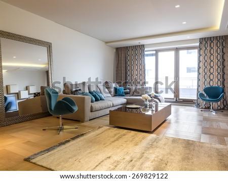 Living room interior - stock photo
