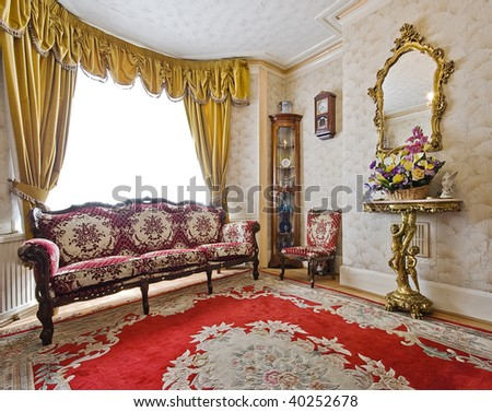 victorian house furniture. Living Room Of A Victorian House With Antique Furniture O