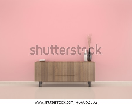 Living Room Pink Rose Wall Wood Stock Illustration 456062332 ...