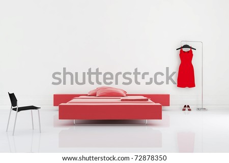 Living Room Setting Modern Bedroom Cgi Stock Photo (Edit Now ...