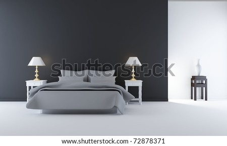 Living Room Setting Simple Bedroom Scene Stock Illustration 72878371