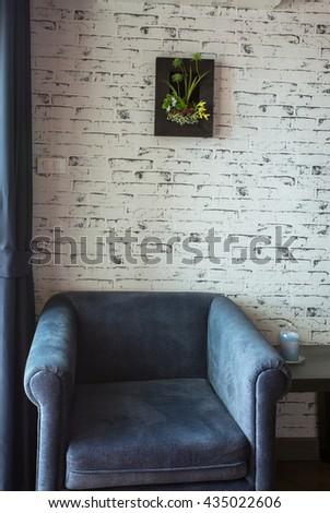 Living room sofa lamp - stock photo