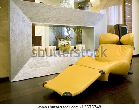 Living room waiting room with elegant modern design - stock photo