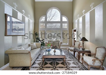 Living room with window design
