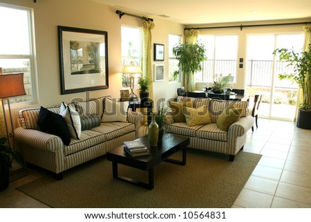 Living Room withe Elegant Design - stock photo