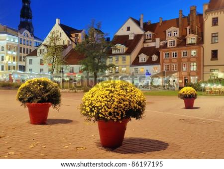 Livu square in Riga, Latvia. - stock photo