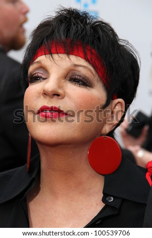 """Liza Minnelli at the """"Cabaret"""" 40th Anniversary Restoration Premiere as part of the 2012 TCM Classic Film Festival Opening Night Gala, Chinese Theatre, Hollywood, CA 04-12-12 - stock photo"""