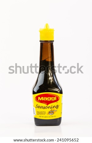 LLANO, TEXAS-Jan 01, 2015: Maggi Seasoning is an Asian Product imported by Nestle and is essential in Asian, African and South American Cooking. - stock photo