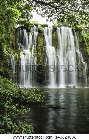 Llanod de Cortez Waterfall located in Costa Rica. - stock photo