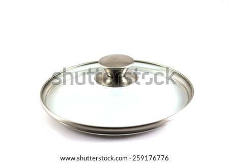 Llid Stainless steel isolated on white background - stock photo