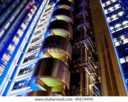 Lloyds Building in London UK - stock photo